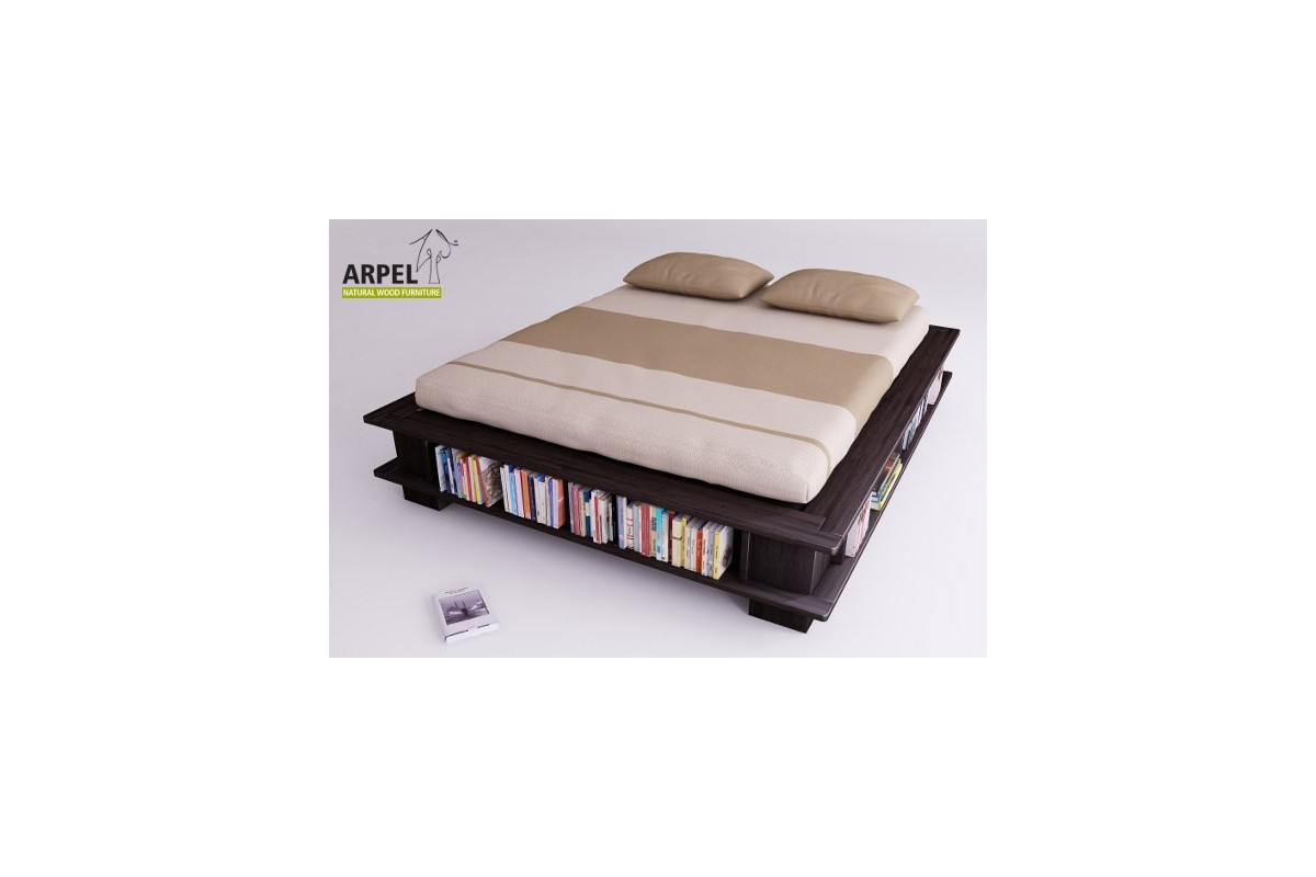 bett b cherregal. Black Bedroom Furniture Sets. Home Design Ideas
