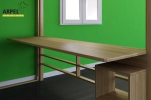 Schreibtisch für das Hochbett KU-BE