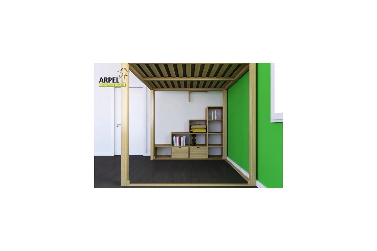 Etagenbett Mit Seitlicher Treppe : Hochbett und treppe ku be