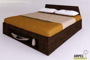 Bett Zen Plus mit seitlichen Schubladen