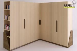 Origami corner wardrobe