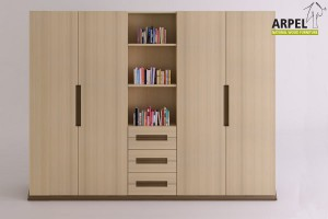 Origami wardrobe central bookcase