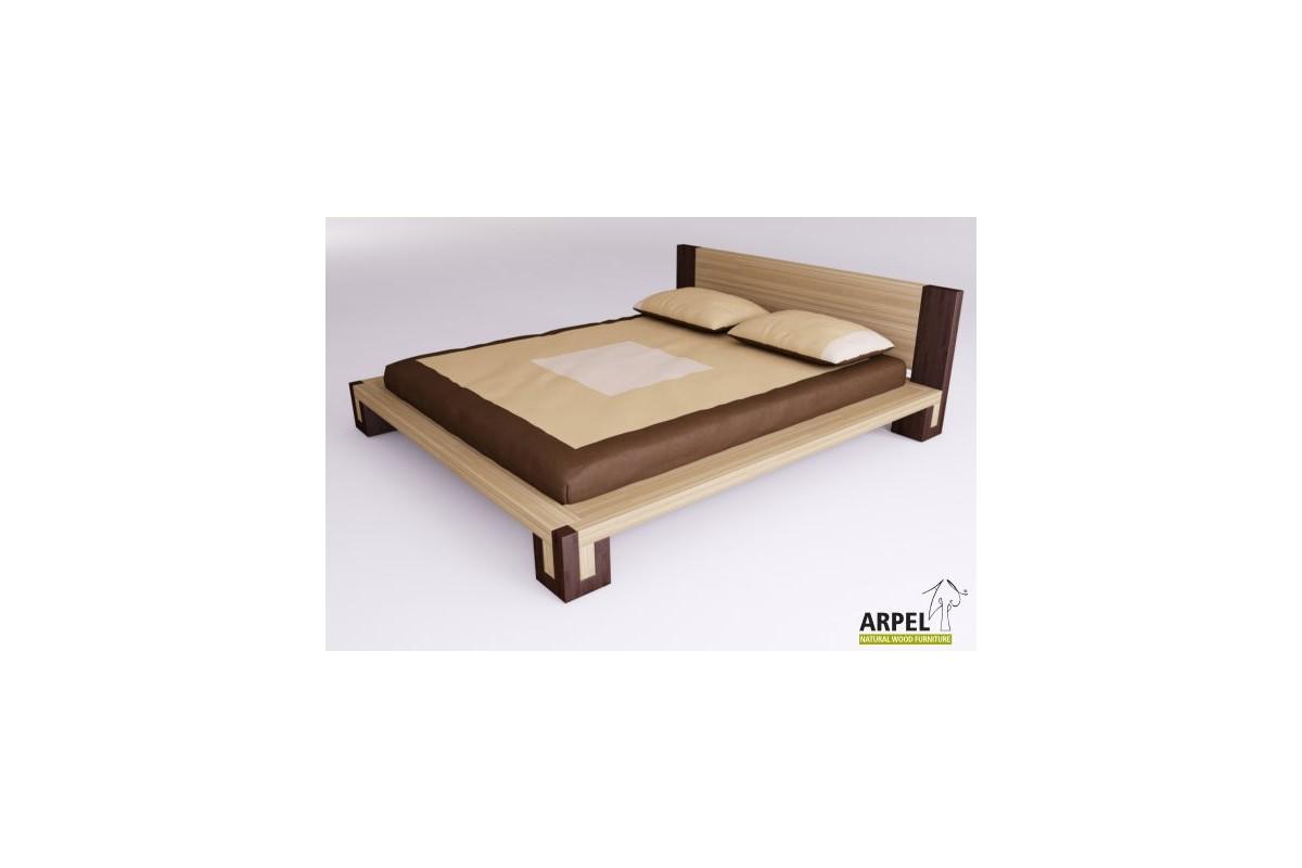 japanisches bett bali zweifarbig aus kologischem buchenholz. Black Bedroom Furniture Sets. Home Design Ideas