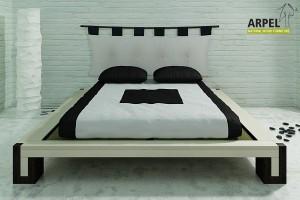 Bett Bali zweifarbig mit Tatami