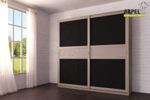 Schrank Feng 250x250 cm mit Zentraleinsätzen aus Stoff