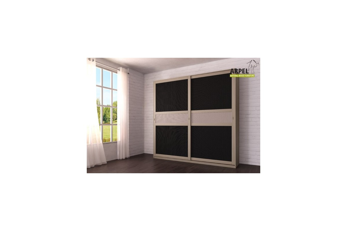 schrank feng 250x250 cm mit zentraleins tzen aus stoff arpel naturholzm bel. Black Bedroom Furniture Sets. Home Design Ideas