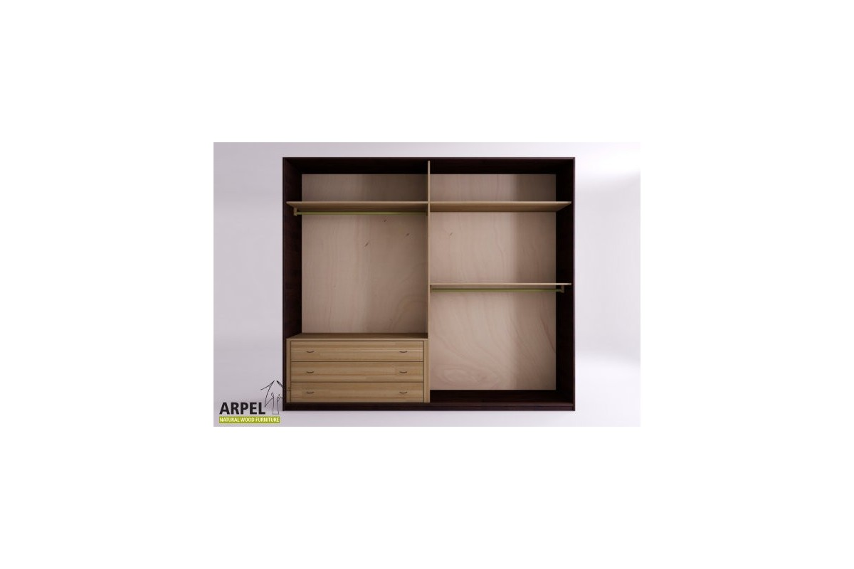 schrank feng 270 cm japanische schiebet ren mit stoffbespannung. Black Bedroom Furniture Sets. Home Design Ideas