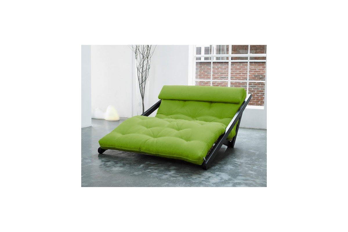 - Chaise Longue Bed Figo In Scandinavian Pinewood With Japanese Futon