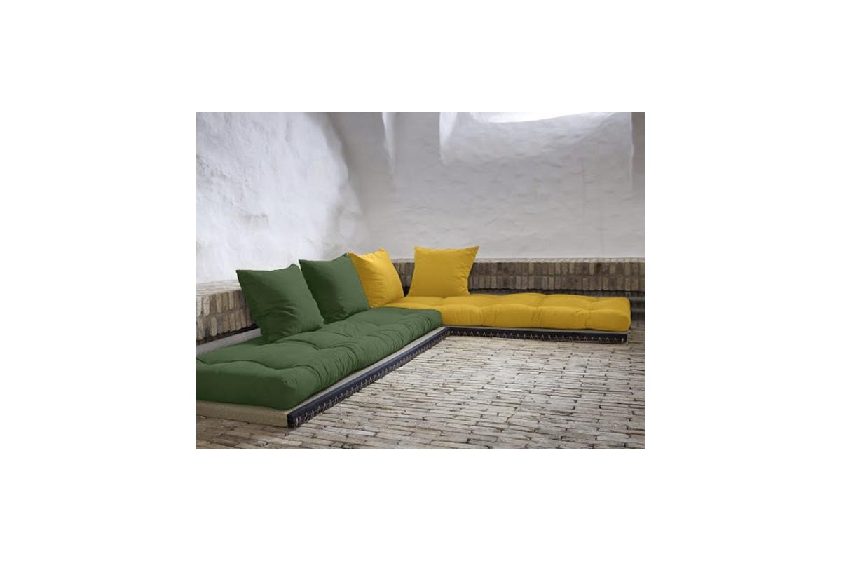wandelbares schlafsofa tatami aus japanischem futon und tatamimatten. Black Bedroom Furniture Sets. Home Design Ideas