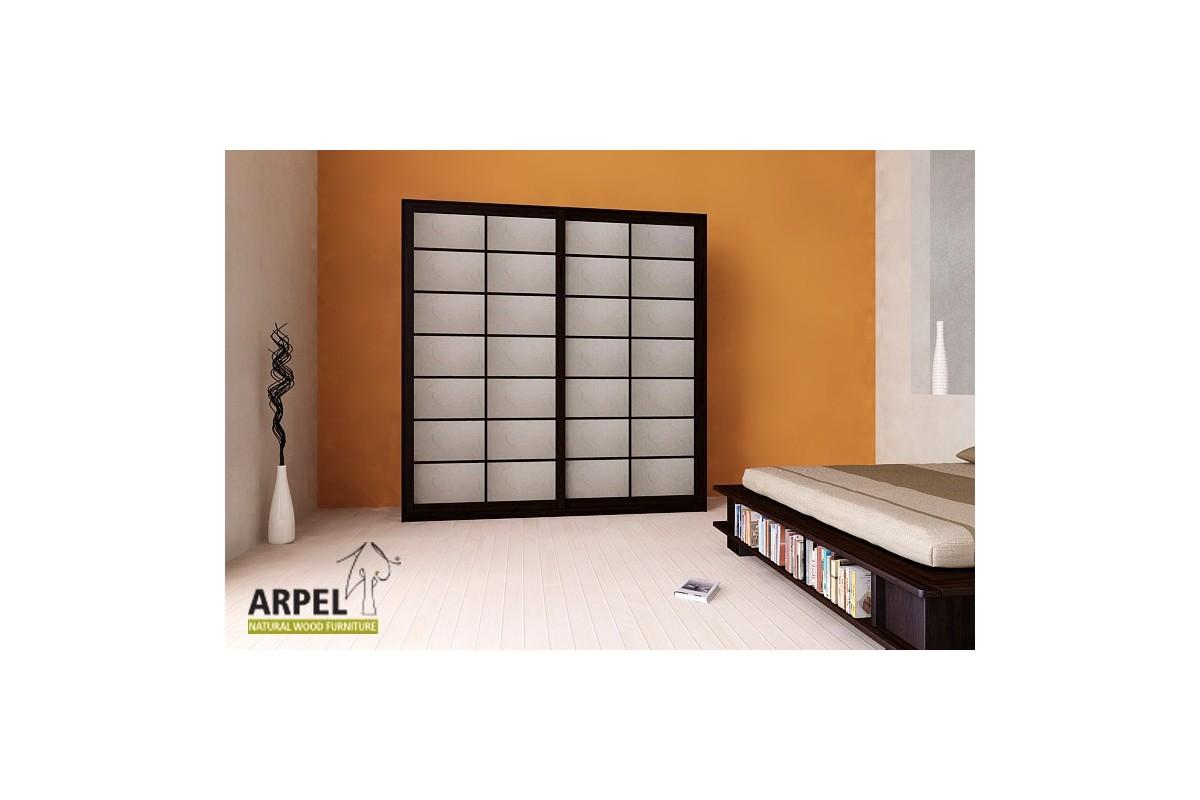 schrank shoji reispapierschiebet ren 250 cm breit. Black Bedroom Furniture Sets. Home Design Ideas