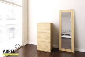 Zen space-saver chest of drawers