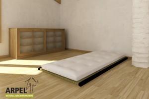 1 Tatami + Futon Baumwolle und Latex Comfort