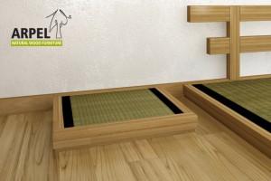 schlafpodest haru mit tatami aus original japanischem reisstroh. Black Bedroom Furniture Sets. Home Design Ideas