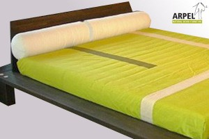 Neckroll headboard for single bed