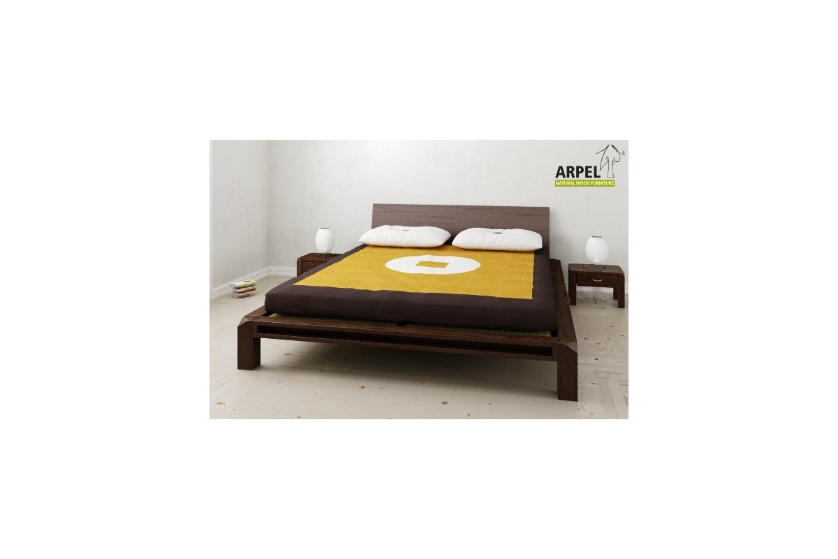 japanisches tiefliegendes bett aiko mit tatami und futon. Black Bedroom Furniture Sets. Home Design Ideas