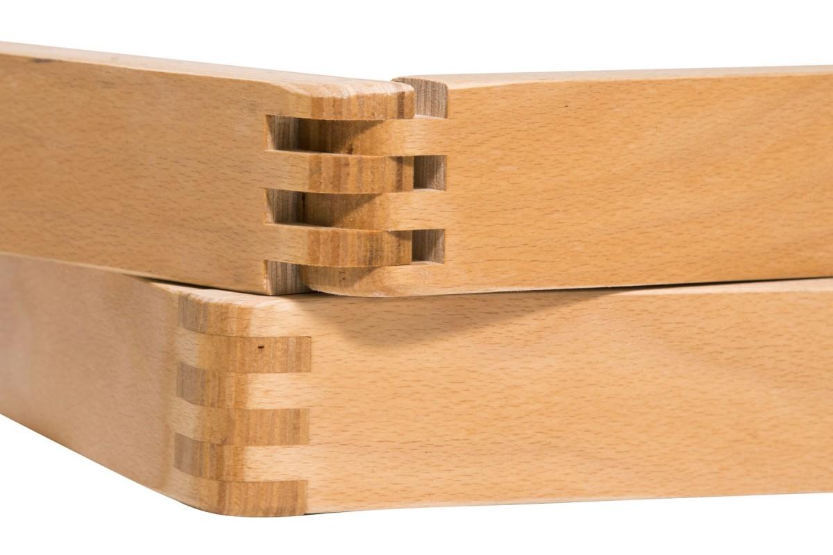 Adjustable Slatted Bed Base Elastic In Solid Beech Wood
