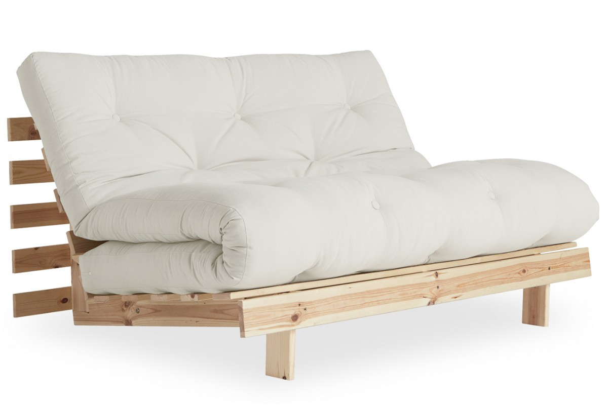 - Sofa Bed Roots With Traditional Japanese Futon And Pinewood Frame
