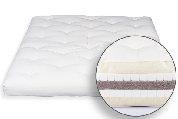Futon in Wool, Double Latex & Coconut