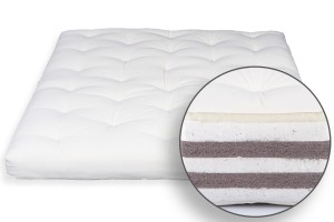Futon Bio Cotton, Double Coconut & Wool