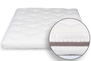 Futon Bio Cotton, Double Latex & Coconut