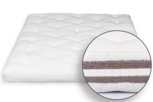 Futon Bio Baumwolle, Latex & Doppel Kokos