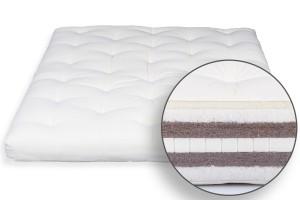 Futon Bio Baumwolle, Latex, Doppel Kokos & Wolle