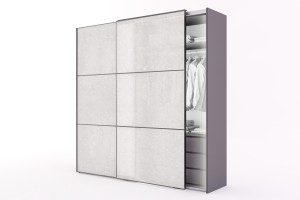 Wardrobe Noshiro with Rice Paper Sliding Doors