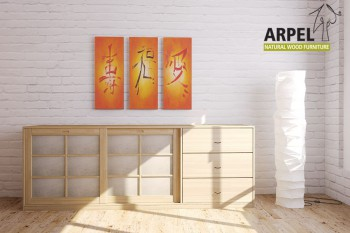 Sliding Door Sideboard with Drawers