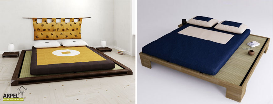 betten mit tatami und futon. Black Bedroom Furniture Sets. Home Design Ideas