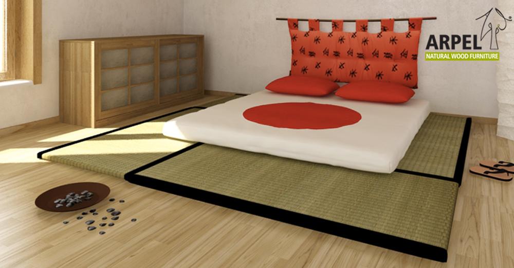 Tiefliegendes Bett