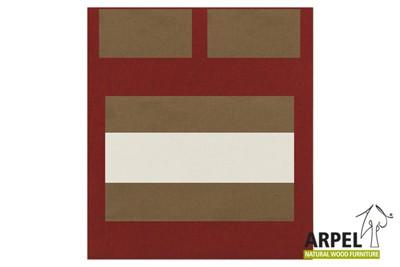 Quilt cover: bordeaux 379sp – beige 531cs – white 301ch / fitted sheet: beige 531cs