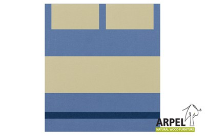 Quilt cover: light blue 425 cs - sand 378 ch - dark blue 2014 spm / fitted sheet: sand 378 ch