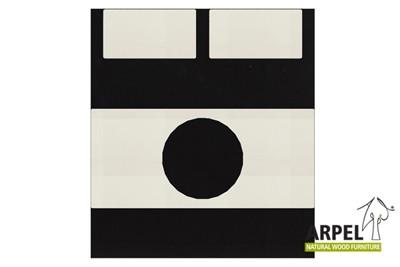 Bettbezug: Schwarz - Weiß 301ch / Spannbettlaken: Weiß 301ch
