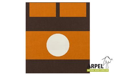 Bettbezug: Braun 380sp - Orange 2767sp - Weiß 301ch / Spannbettlaken: Orange 2767sp