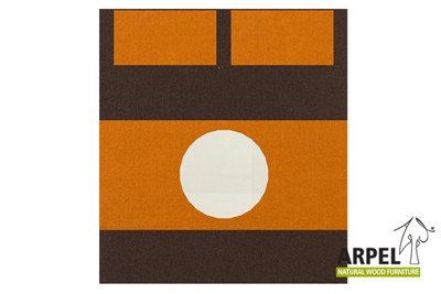 Bettbezug: Braun 380sp - Orange 2767sp - Weiß 301ch / Spannbettlaken: Weiß 301ch