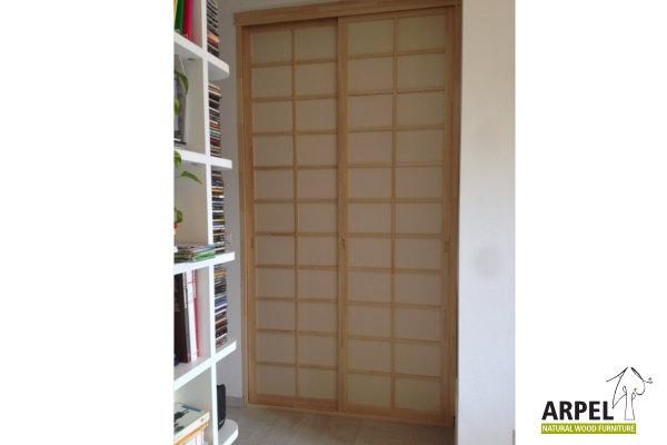 Japanischer begehbarer Kleiderschrank - Arpel - Naturholzmöbel
