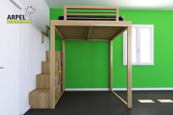KU-BE loft bed and stair