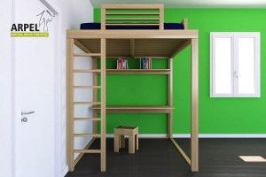 KU-BE loft bed with ladder