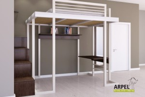 Ultra Reverse loft bed and cube stair