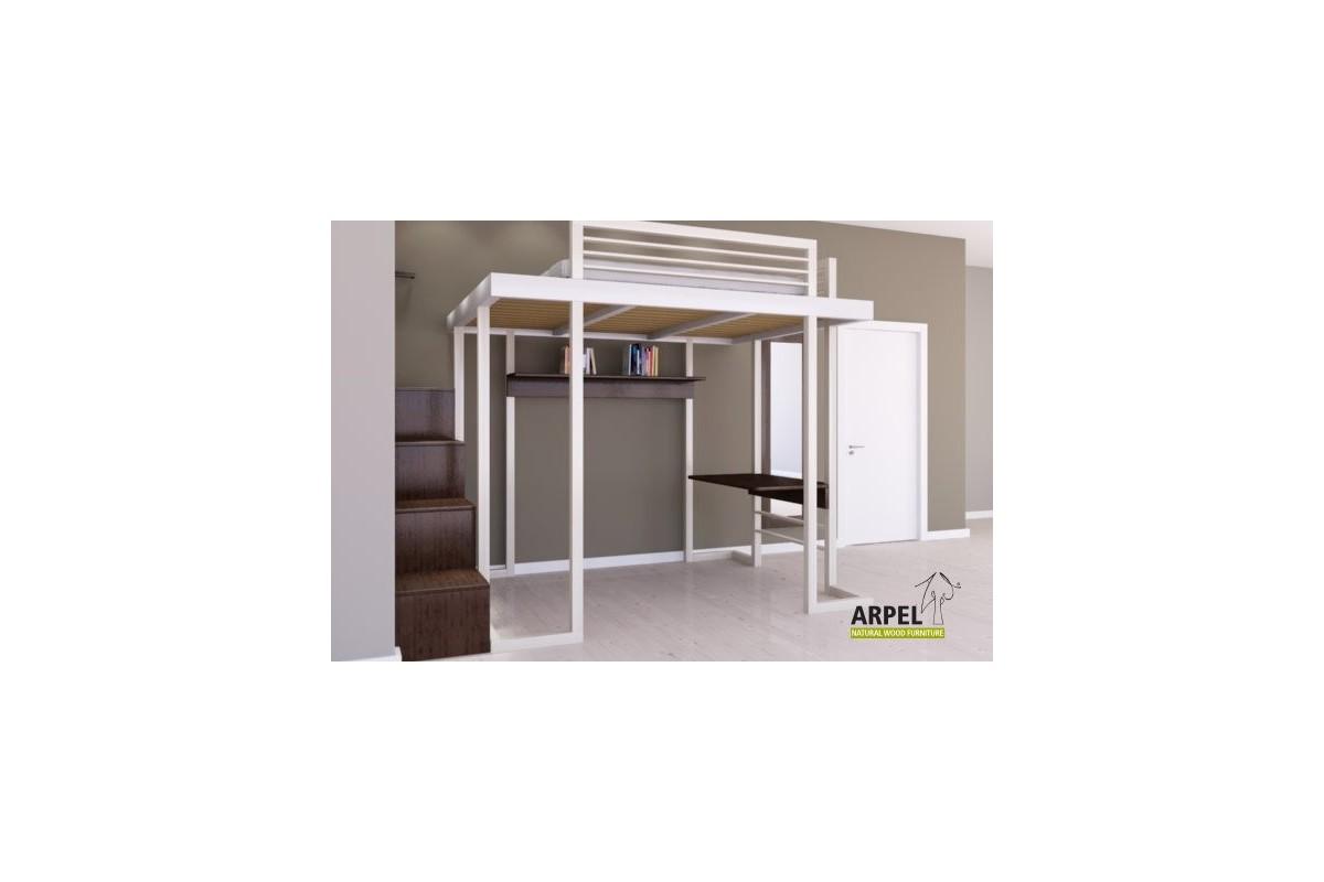 hochbett ultra reverse und w rfeltreppe. Black Bedroom Furniture Sets. Home Design Ideas