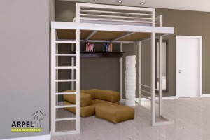 Ultra Reverse loft bed with ladder