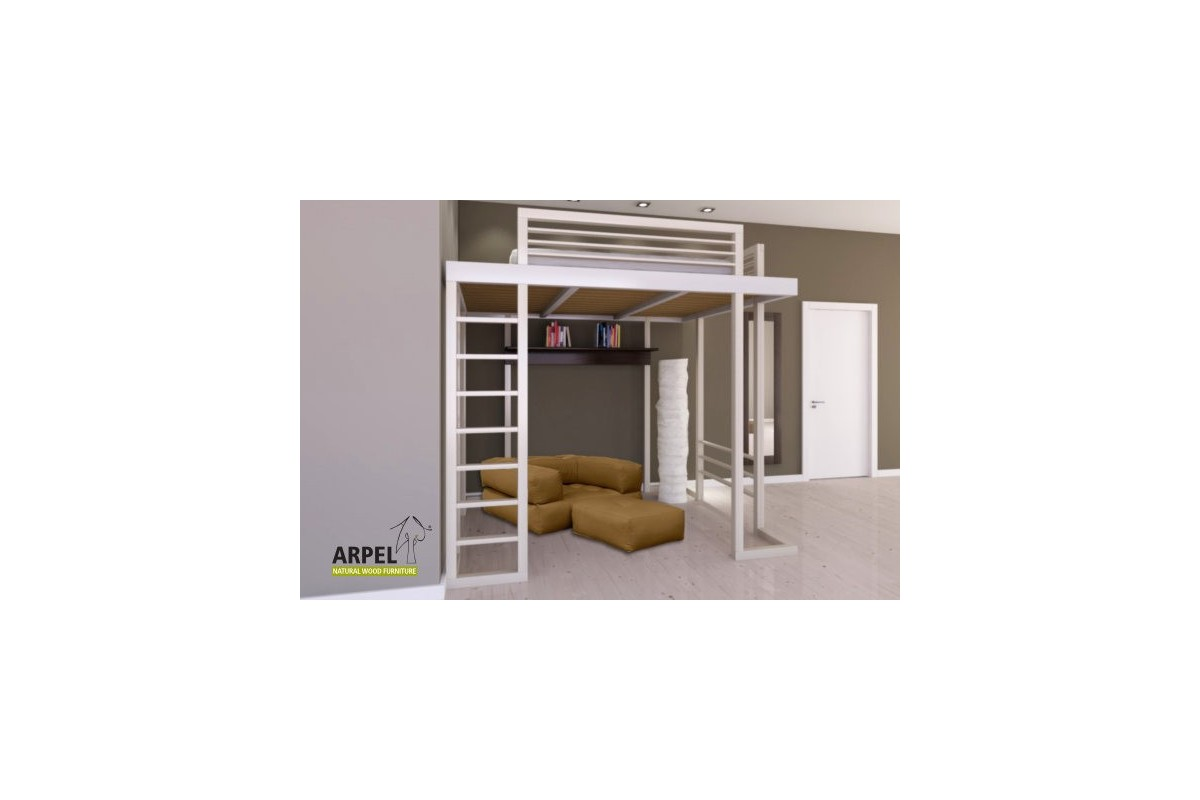 ultra reverse loft bed with ladder vendita mobili