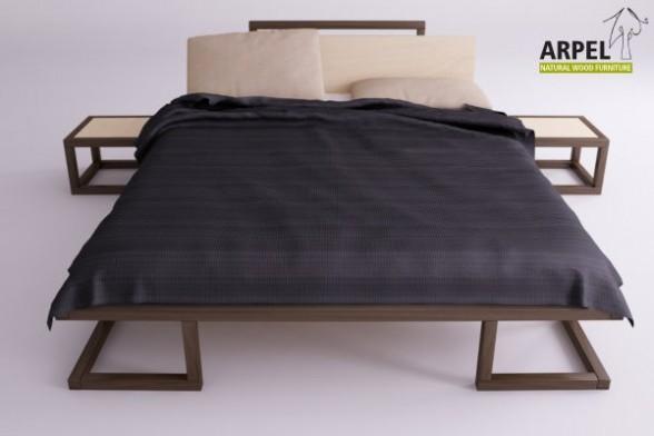 japanisches bett ultra aus kologischem buchenholz. Black Bedroom Furniture Sets. Home Design Ideas