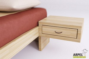 Zen suspended bedside table with drawer