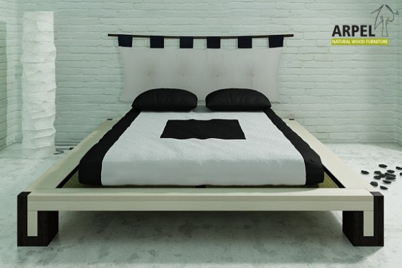 Two-coloured Bali bed with tatami