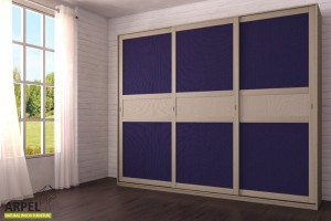 Armadio Feng 300x250 cm con inserto in tessuto