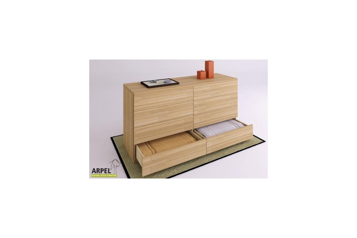 kommode zen maxi 160 aus 26 mm starker lamellierter buche. Black Bedroom Furniture Sets. Home Design Ideas