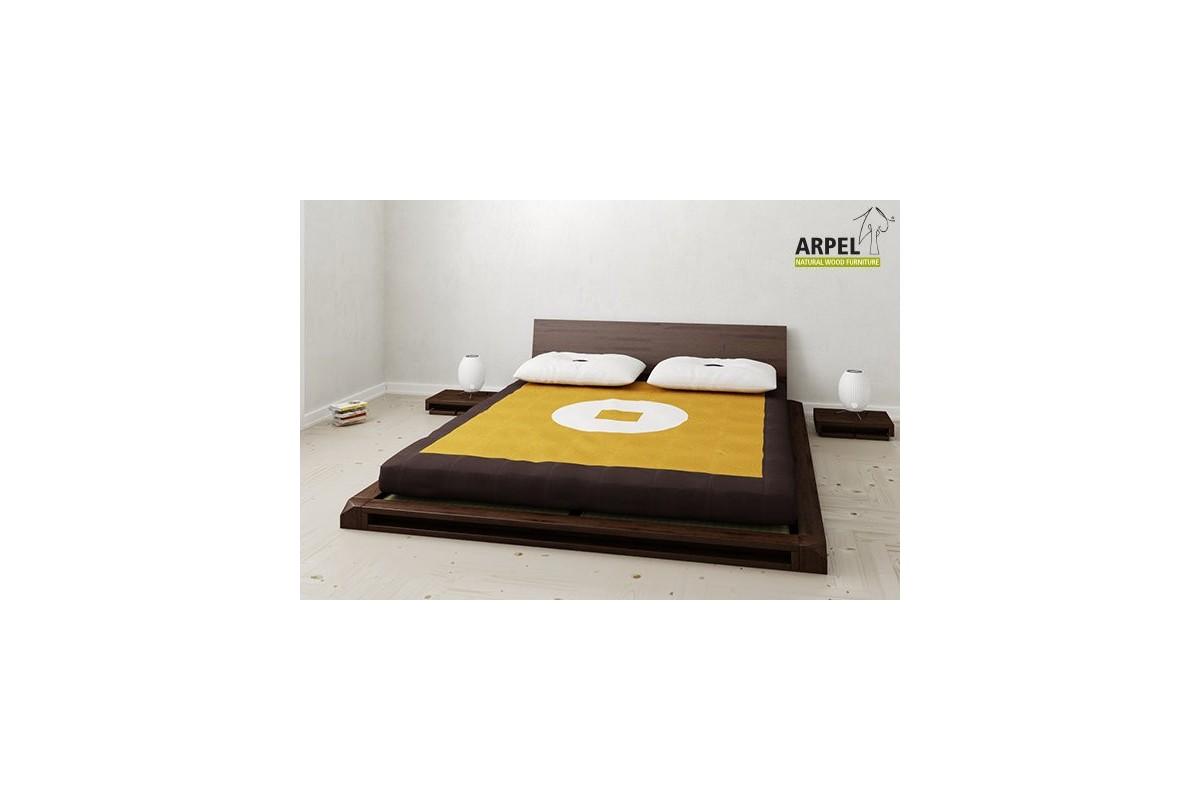 komplettes japanisches bett mit futon und tatamimatten. Black Bedroom Furniture Sets. Home Design Ideas