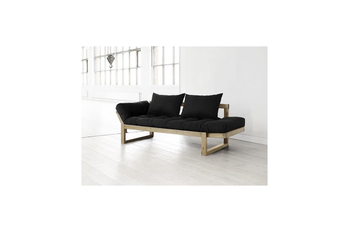 Divano letto edge con struttura in pino scandinavo e materasso futon - Divano profondo 60 cm ...