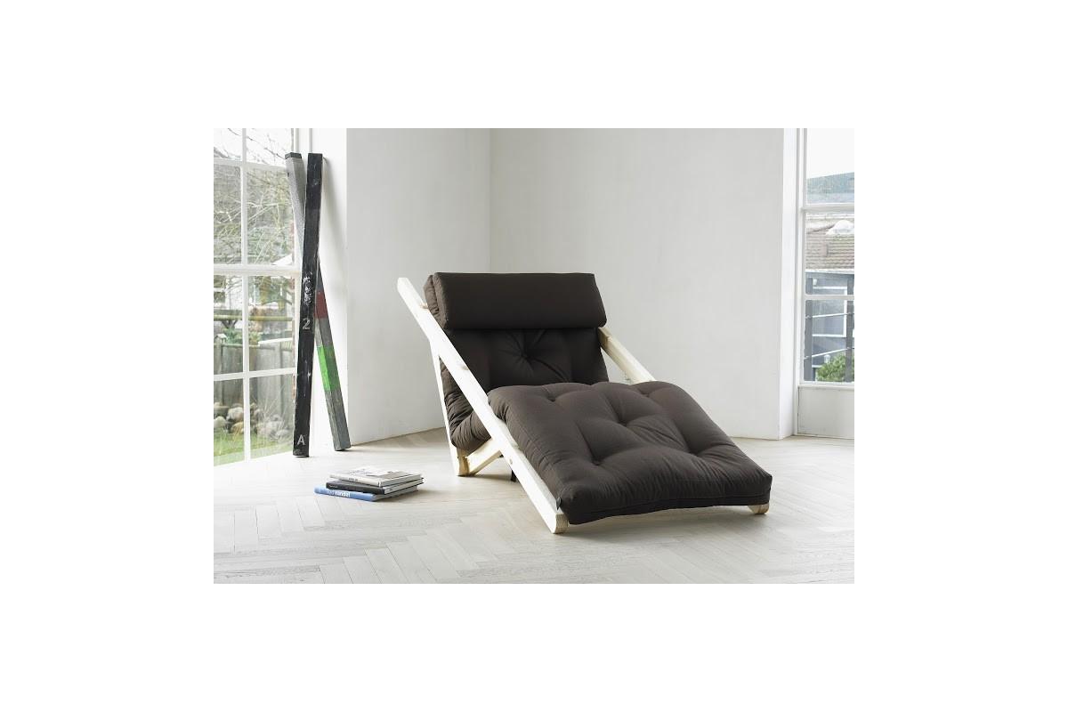 chaiselongue bett aus skandinavischer kiefer mit japanischem futon. Black Bedroom Furniture Sets. Home Design Ideas